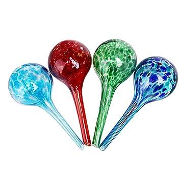 sungmor dispensador de agua planta 4pc Set Mini bombillas, bolas de cristal, 6 cm