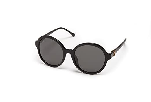 688d5a7c06e19 Amazon.com  Loewe Sunglasses SLW949G570700 (57mm) Women Shiny Black ...