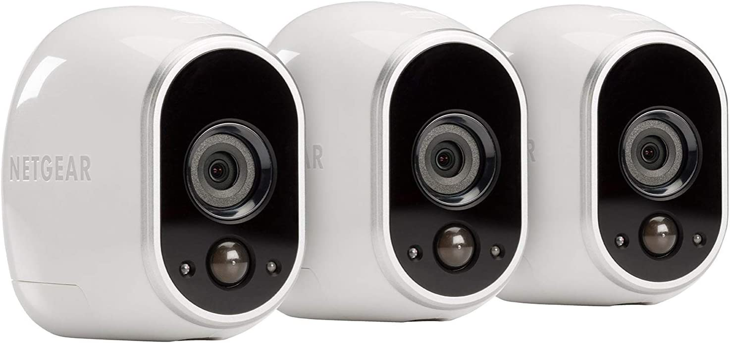 Arlo by Netgear Security System - Pro Base with 3 Wire-Free HD Cameras Indoor/Outdoor,Night Vision (VMS3330H)