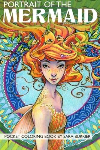 Portrait of the MERMAID Coloring Book
