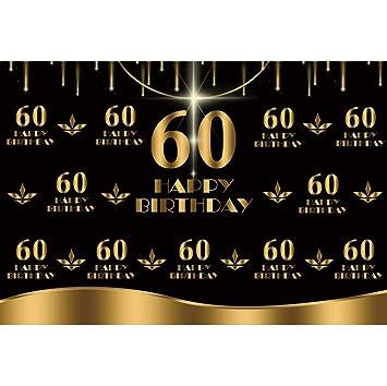 OERJU 3x2,5m Feliz Cumpleaños Partido Fondo 60 Cumpleaños ...