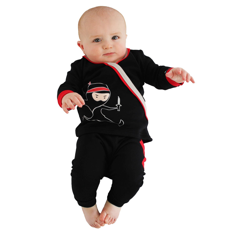 3e68202aca9a Amazon.com  Sozo Boys  Toddler Ninja Long Jammies  Clothing