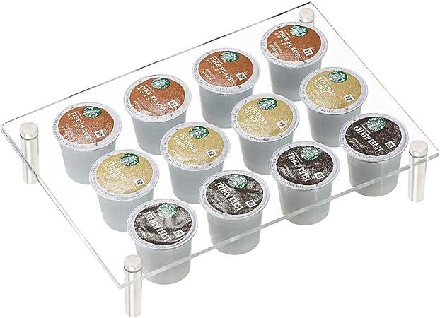 60 K Pod Holder Rack Storage for Keurig Coffee Pod Chrome Drawer Organizer /& Mat