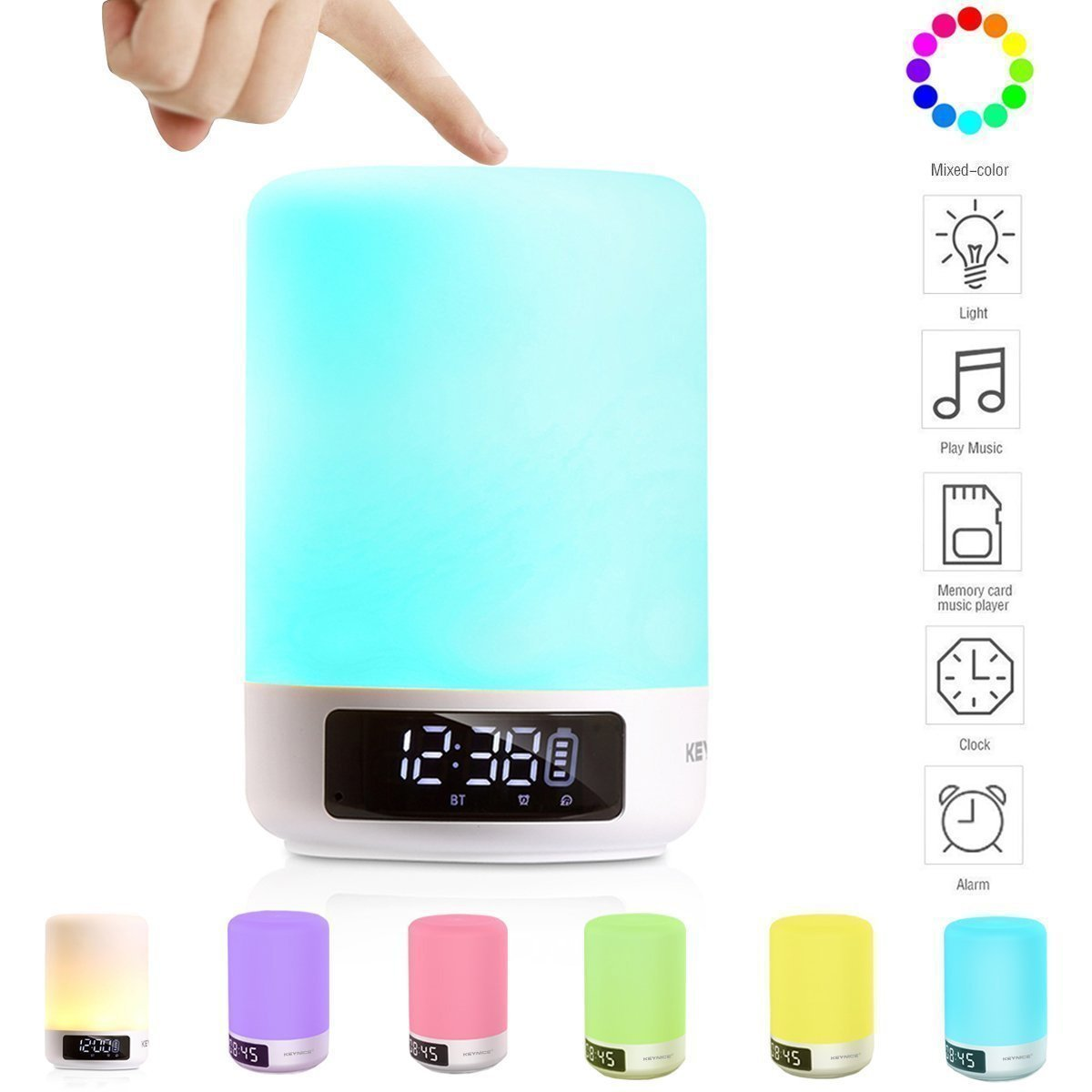keynice multicolor lampe de chevet tactile portable sans fil bluetooth ebay. Black Bedroom Furniture Sets. Home Design Ideas