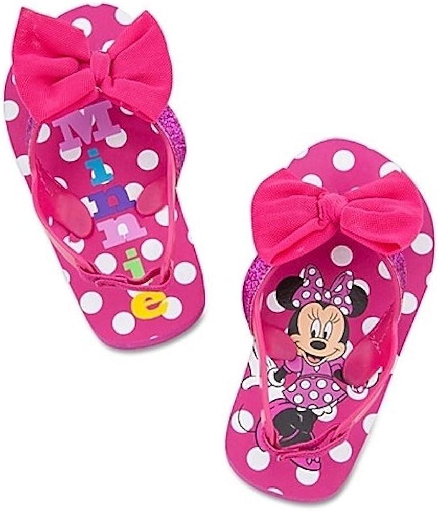 Disney Store Minnie Mouse Flip Flops
