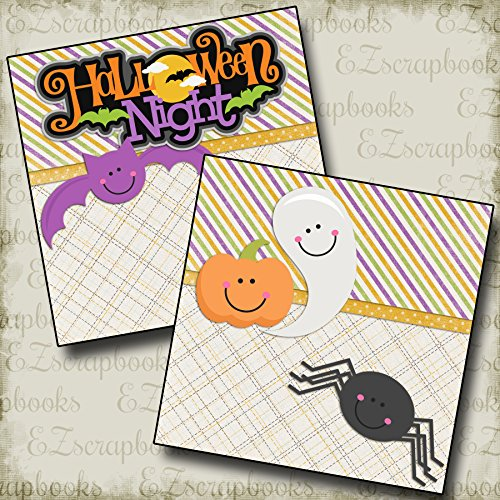 HALLOWEEN NIGHT Non-Photo-Mat - Premade Scrapbook Pages - EZ Layout 2402 -