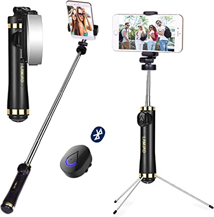 Selfie Stick Phone Tripod 27.5 Inch Extendable Selfie Stick Tripod Stand with Wireless Remote Compatible with iPhone 12//12PRO//11//XS//XR//X//8P//7P Galaxy Note10//S20//S10//S9//Google//Huawei,More