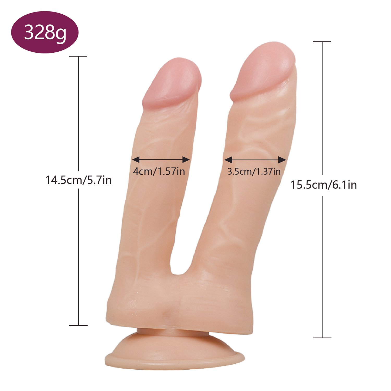 Double Sided Big Toy Real Feel Soft Flexible Double Head Massage