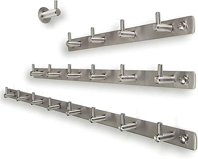 4 bis 16x Kleiderhaken Handtuchhalter Haken Garderobenhaken Aufhänger Edelstahl
