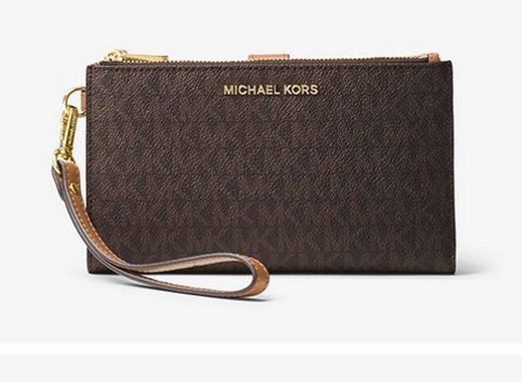 MICHAEL Michael Kors Adele Double Zip Phone Wristlet