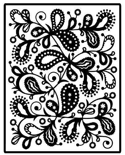 Spellbinders Impressabilities Template to Emboss/Deboss, Paisley