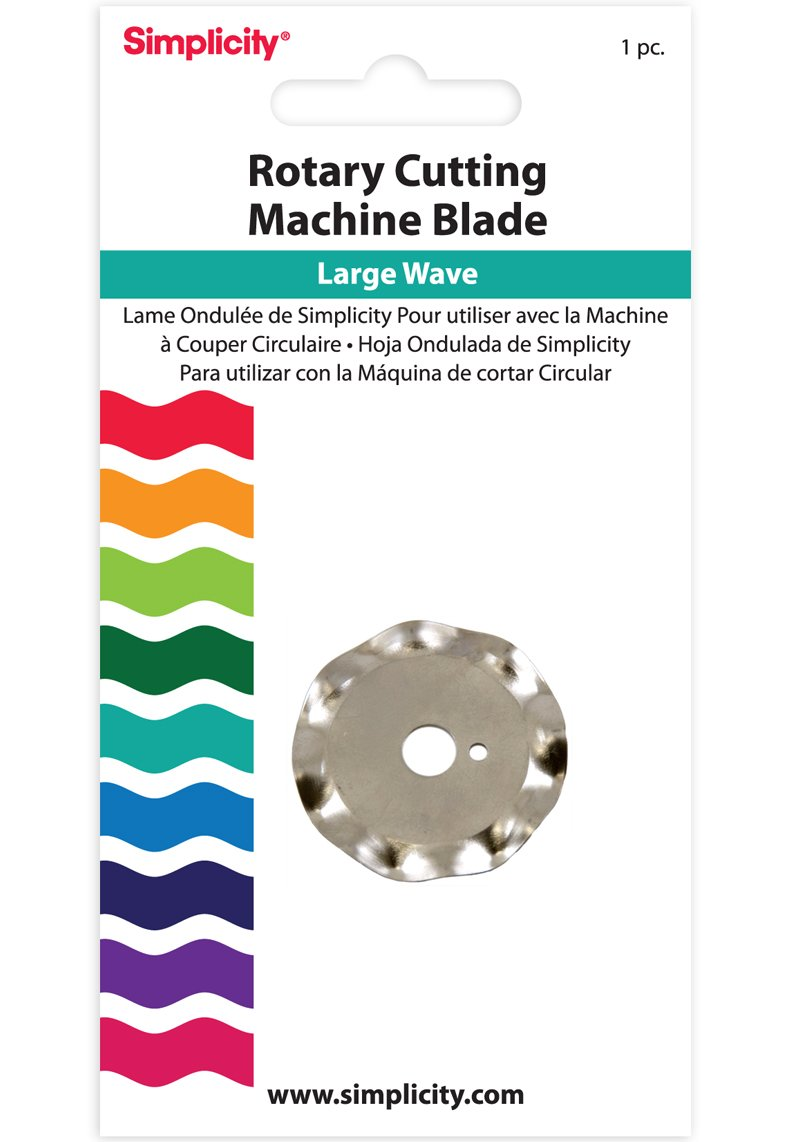 Simplicity Large Wave Rotary Cutting Blade Simplicity Creative Group Inc 881973