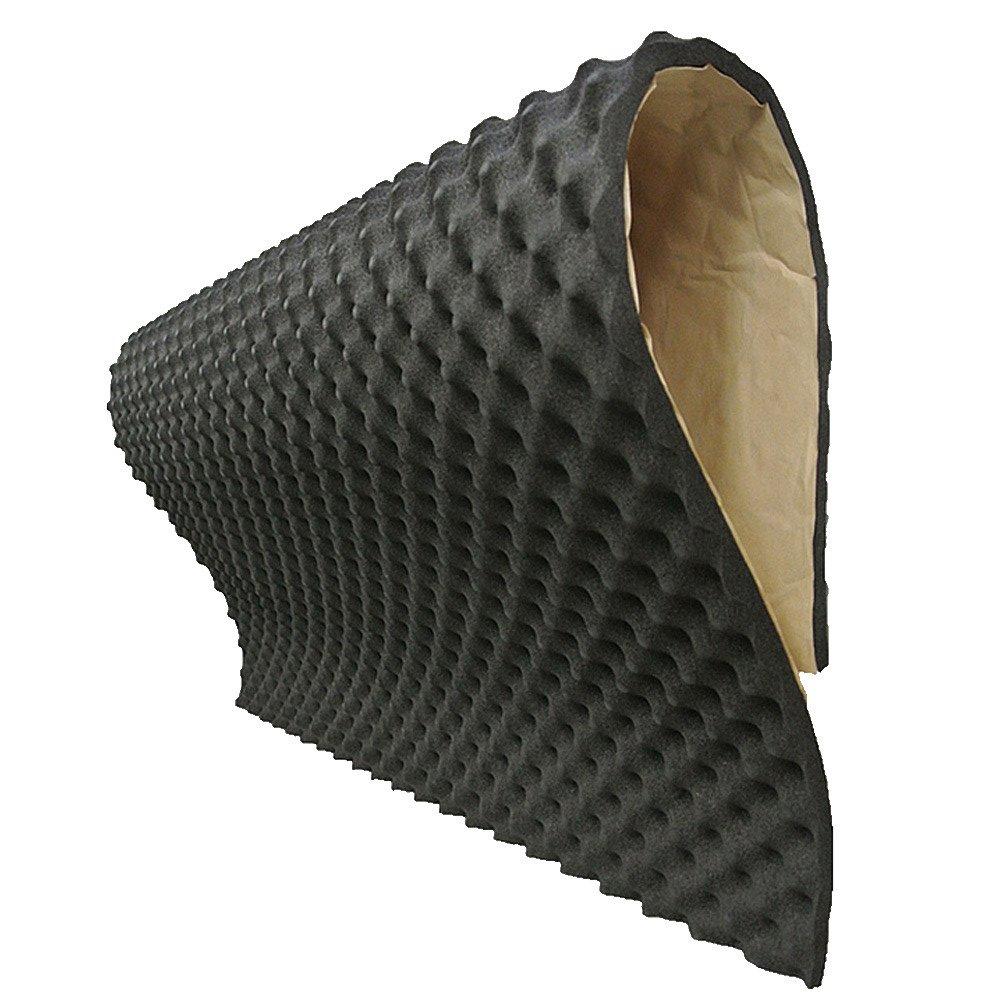 Supmico 2 fogli cappotto silenzioso fonoassorbente 20 millimetri schiuma acustica auto insonorizzazione Adesivo Stuoia 50cm X 50cm