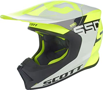 Scott 550 Wood Block MX Enduro Moto Casco gris/amarillo 2018
