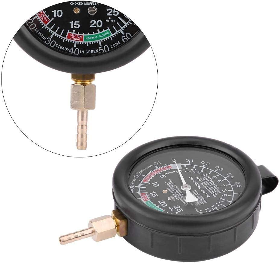 21 5cm Engine Pressure Gauge Plastic Car Pressure Tester Engine Vacuum Fuel Pump /& Vacuum Tester Pressure Diagnostics Leakage Tester for 30.5