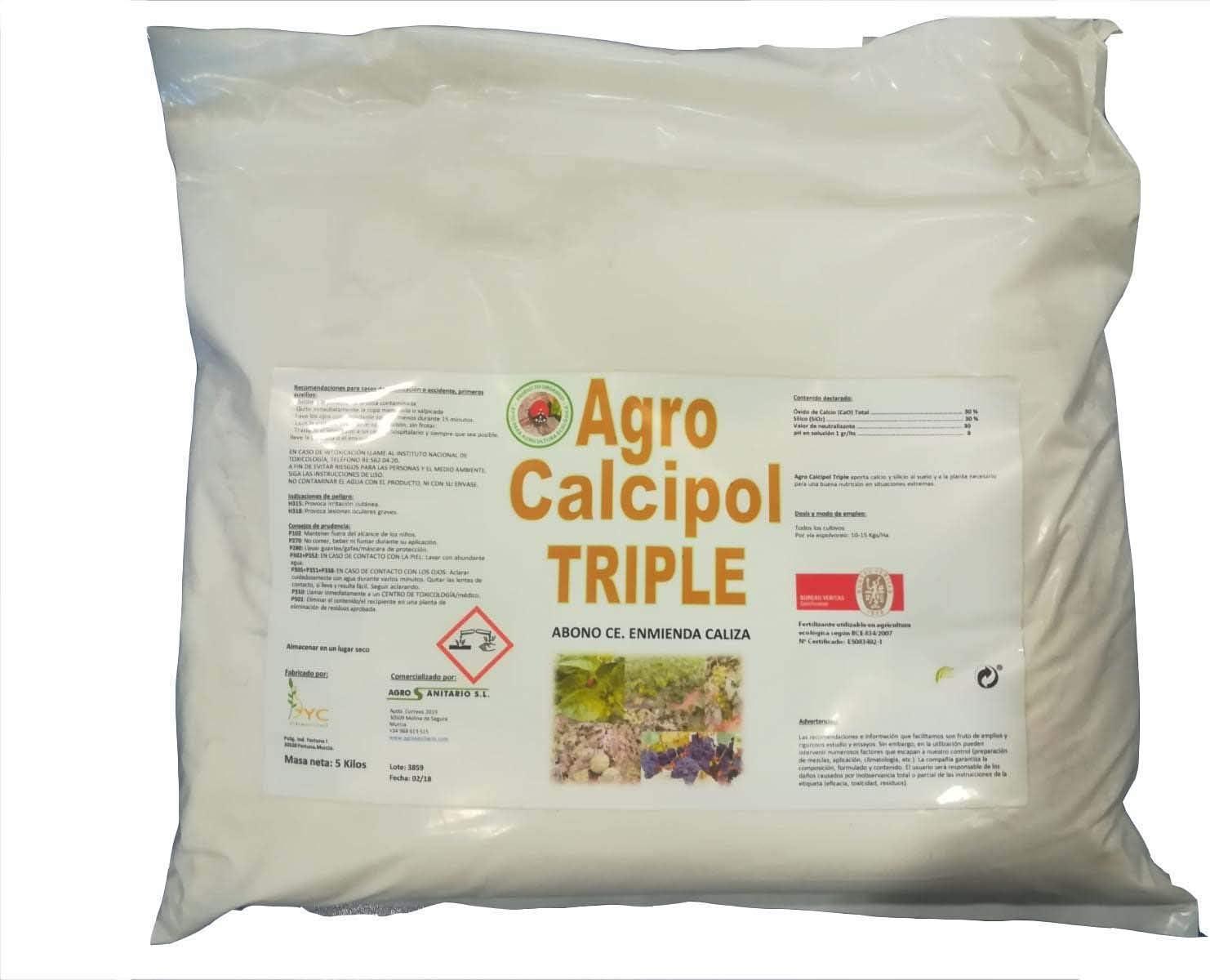 Agro Calcipol Triple (5 Kg). Insecticida - Fungicida. Ecológico