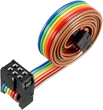 IDC Rainbow Wire Flat Ribbon Cable 50P FC//FD Connector 2.54mm Pitch 0.5m Length