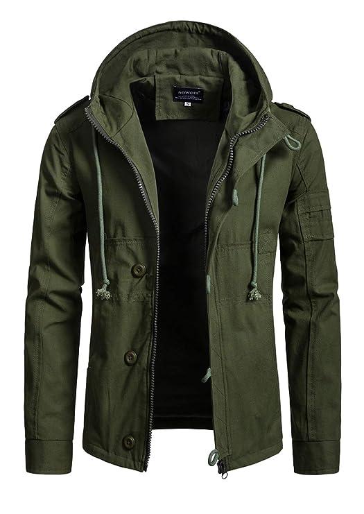 Amazon.com: Hakjay - Abrigo militar para hombre: Clothing