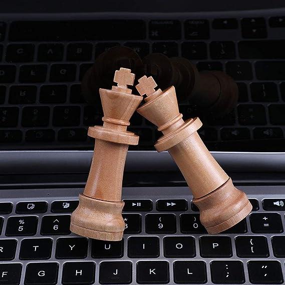 Senoow - Memoria USB 2.0 de Madera con diseño de ajedrez ...