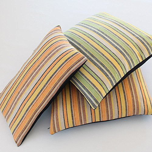 Denim Toss Pillow - Chloe and Olive Urban Linen Orange Collection - 20