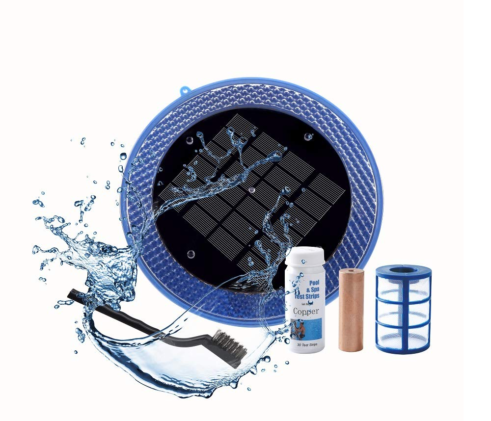 BLUE WORKS Solar Powered Natural Pool Clear Purifier with Copper Anode up to 45,000 Gallons by BLUE WORKS
