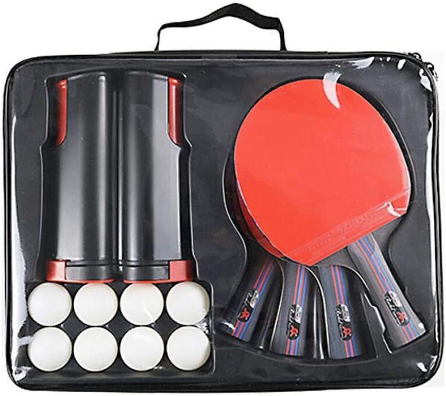 QQ GO Mesa de Ping Pong Set, Ping-Pong paletas Conjunto con retráctil Neto, Bolas y Estuche de Transporte, Entrenamiento y recreativas, Interior al Aire Libre