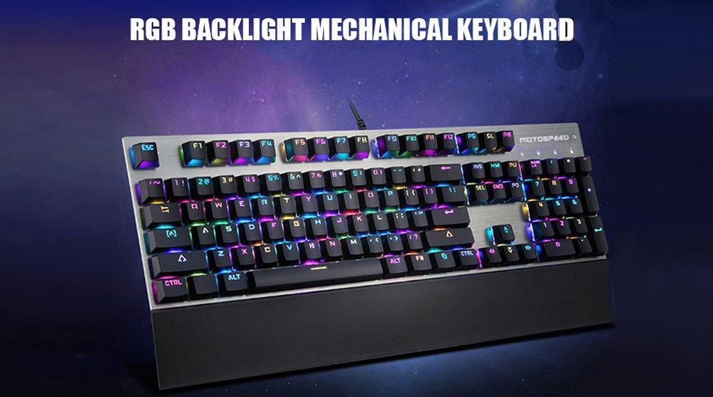 Motospeed CK108 USB Wired Game Keyboard Teclado para Juegos con Cable USB con 18 Modos de Luz de Fondo para Escritorio-Conmutador Negros(Negro): Amazon.es: ...