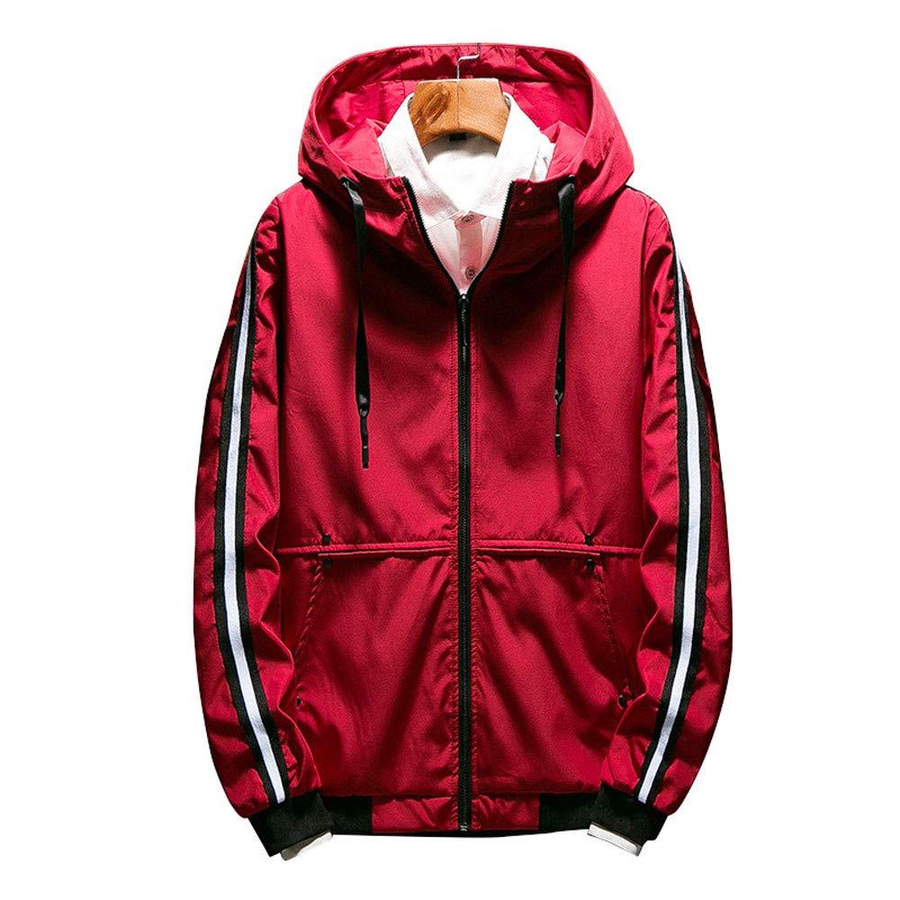 Allywit M-5XL Men's Hooded Lightweight Windbreaker Rain Jacket Water Resistant Coat