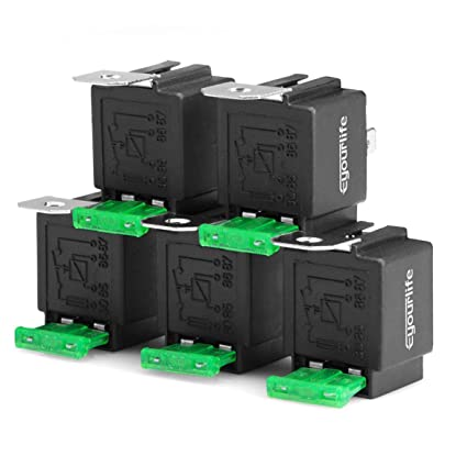 Super Amazon Com Eyourlife 5 Pack 30 40 Amp Auto Relay Harness With Wiring Digital Resources Funapmognl
