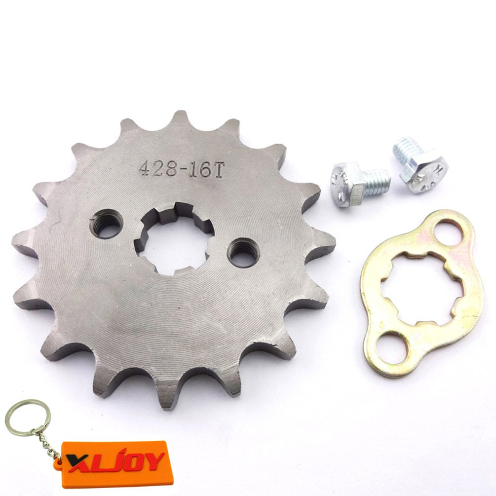 XLJOY 428 16 T 17mm Front Sprocket Gear for ATV Pit Dirt Bike Lifan YX 50cc-160cc Engine