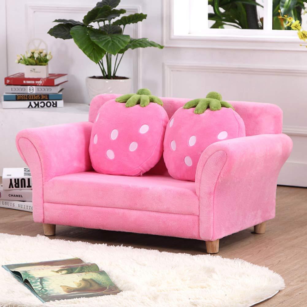 HYYQG 雙人沙發床,兒童套房投擲客廳懶人沙發高背休閒椅戶外花園靠墊便攜式體育館座椅臥室, pink B07SRSGMV4