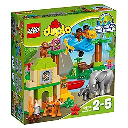 Amazoncom Lego Lego Duplo Of The World Animal Jungle Set 10804