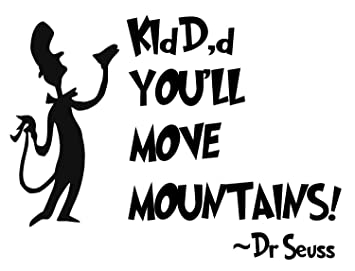 Amazoncom Bellacross Unofficial Dr Seuss Wall Decals Kid Youll