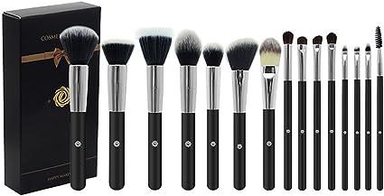 Ablerfly - Juego de 15 brochas de maquillaje con caja de regalo de terciopelo: Amazon.es: Belleza