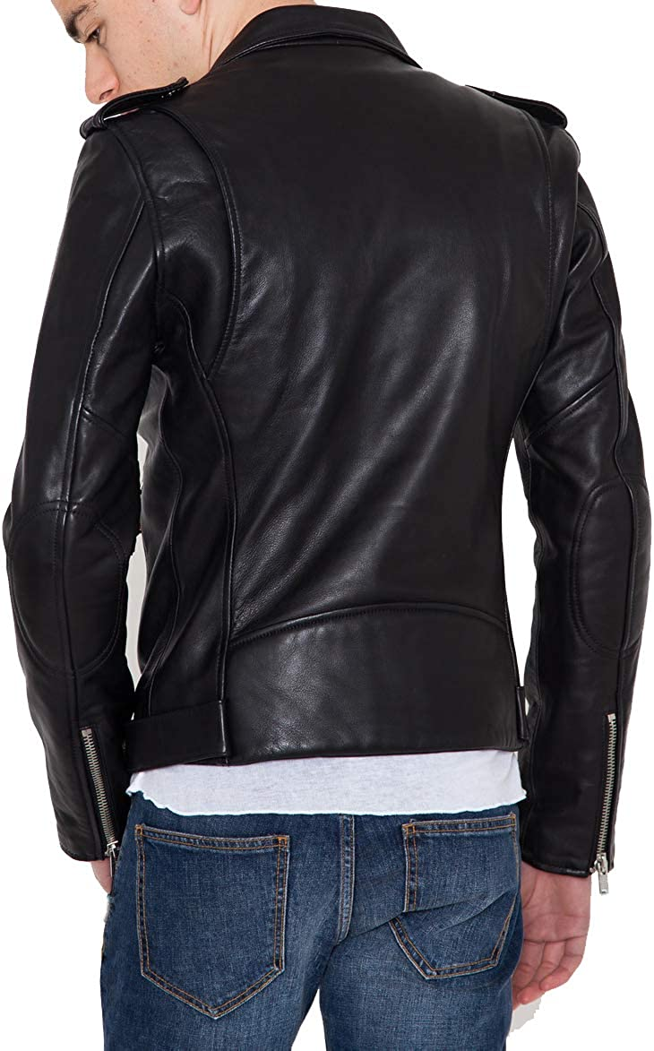 Ayesha Mens Leather Jackets Motorcycle Bomber Biker Genuine Lambskin 76