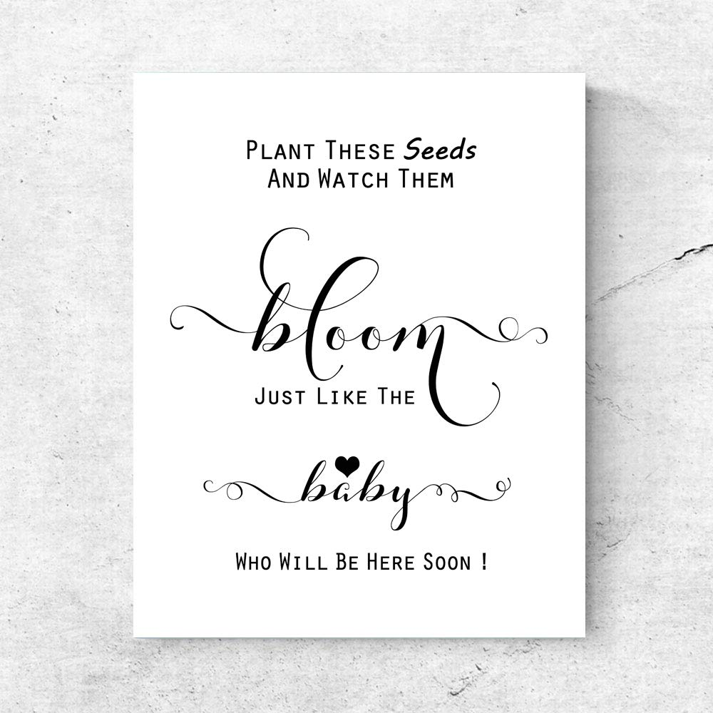 Amazon Com Plant These Seeds And Watch Them Bloom Baby Shower Favor