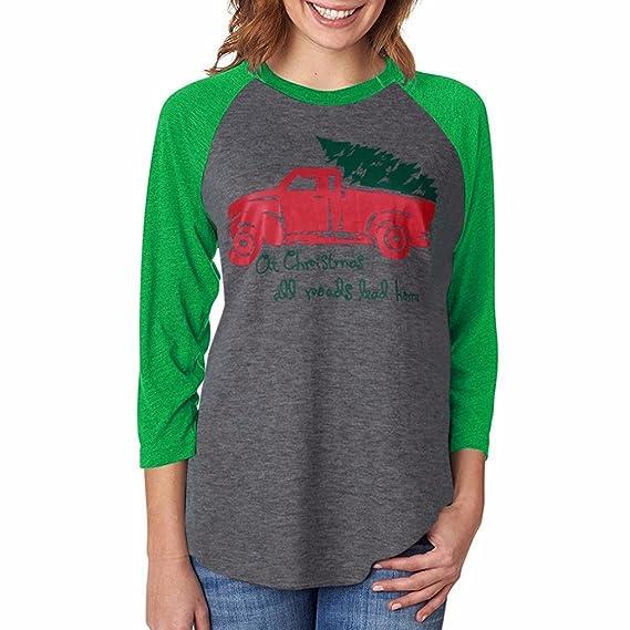 OverDose camisas mujer de navidad blusa manga larga O-cuello casual: Amazon.es: Ropa y accesorios