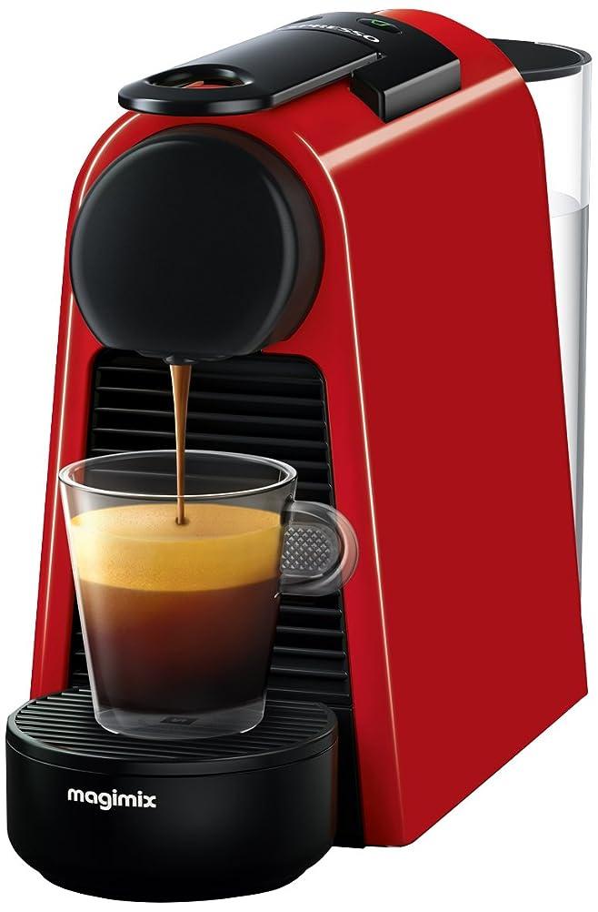 Nespresso Essenza Mini Coffee Machine with Aeroccino, Ruby Red by ...