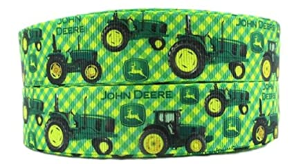 """USA SELLER Tractor 1/"""" Wide Repeat Ribbon Sold in Yard Lots"""