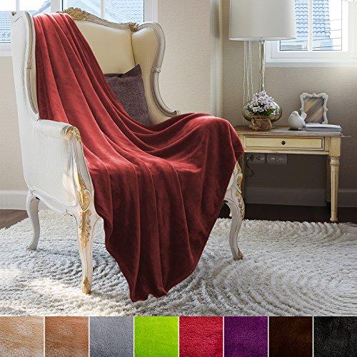 casa pura Fleece Throw Blanket | Mink Faux Fur Plush Blanket