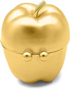 Gold Apple Shaped Pocket Purse Portable Travel Pill Box & Medicine Organizer (1 Large Compartment)