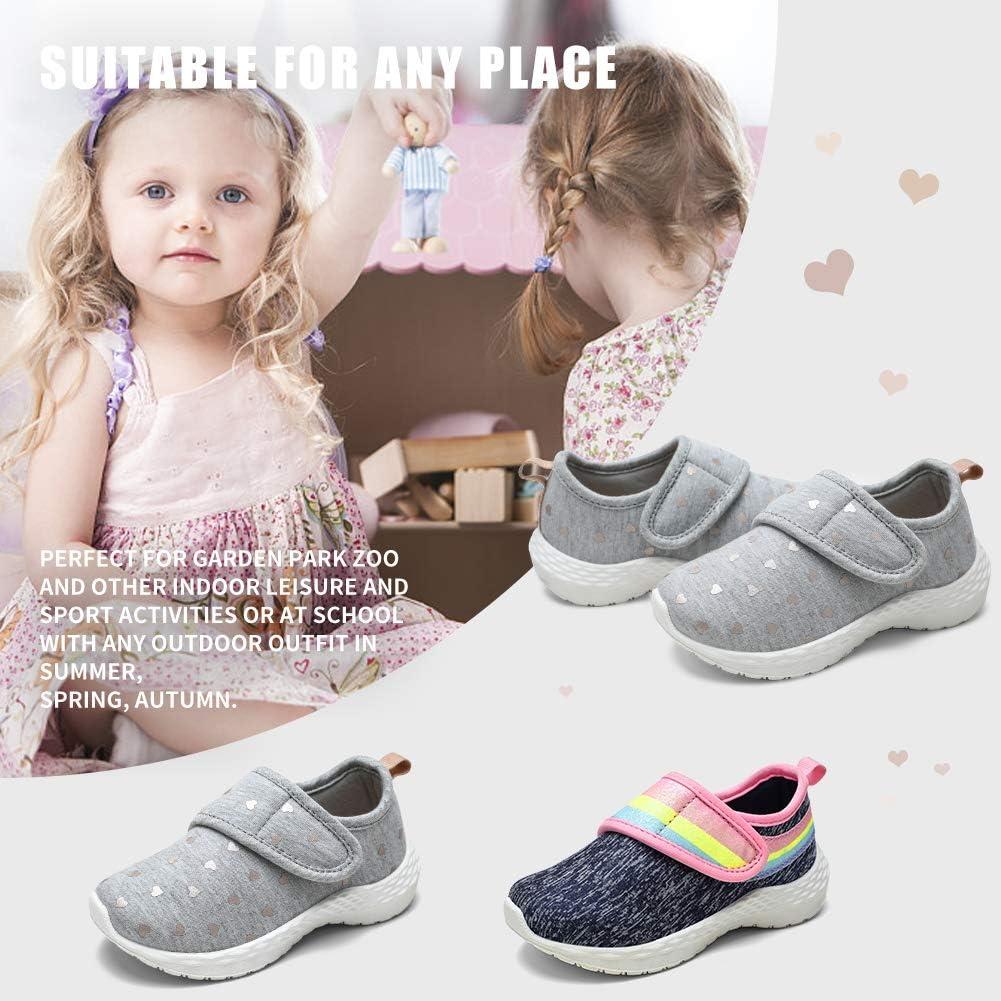 STQ Toddler Girl Shoes Cute Lightweight Walking Sneakers