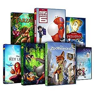 Pack Mejores Clásicos Disney Zootrópolis + Frozen + Big Hero 6 + El Rey León + El Libro De La Selva + Peter Pan + Tarzán DVD: Amazon.es: Cine y Series TV