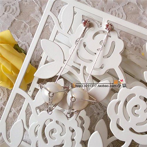 TKHNE Korea ear jewelry big wind triangle Tony solid geometry beads zircon crystal long earrings simple ear wire earrings