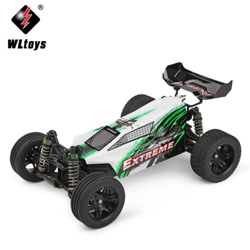 Dreamyth Fun WLTOYS A303 1:12 Scale 2.4G 2WD 35km/h Rechargeable RC Off-road Electric Car RTR (Green)