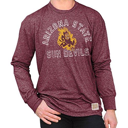 (Elite Fan Shop Arizona State Sun Devils Retro Long Sleeve Tshirt Maroon - L)