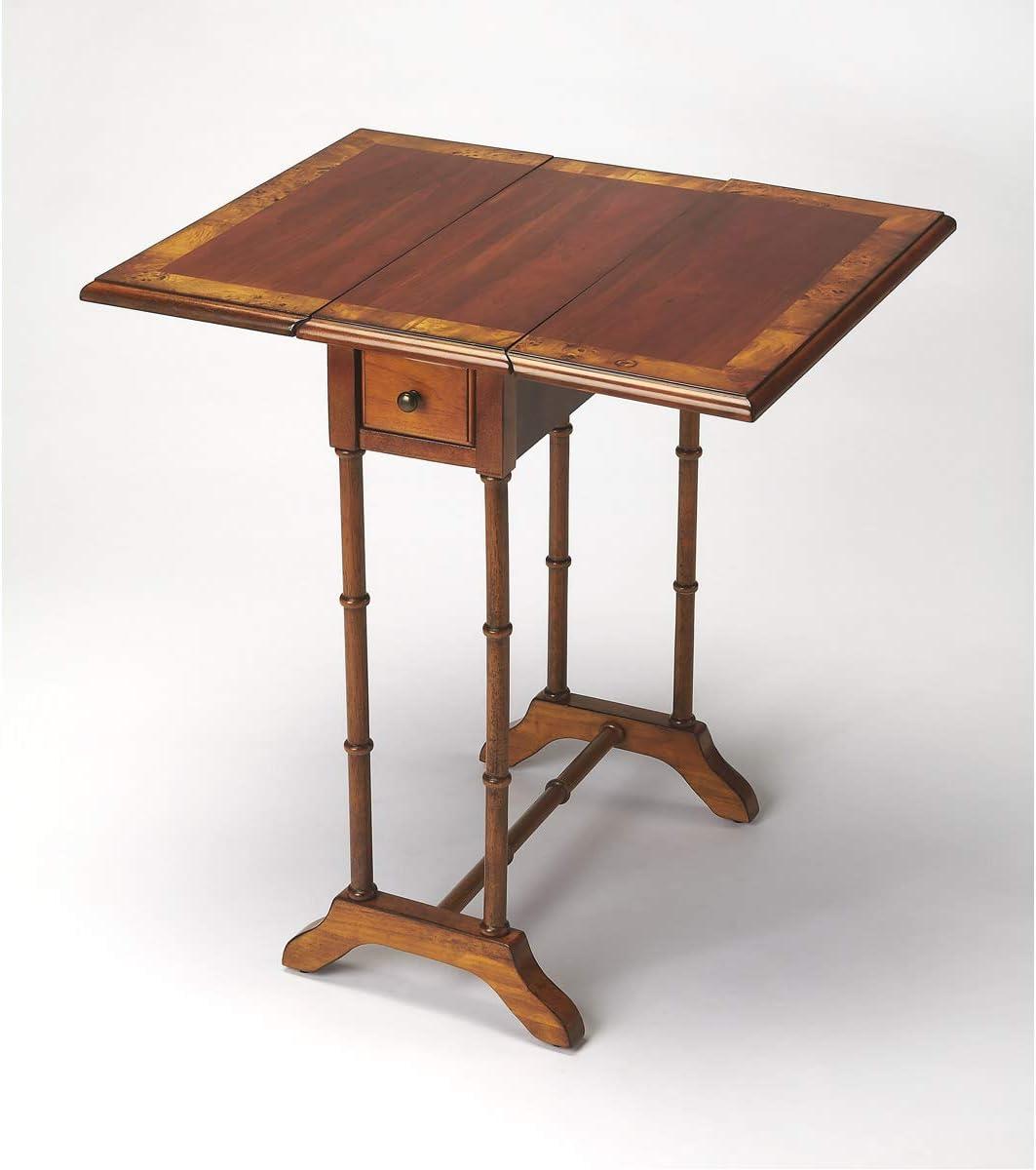 BUTLER 2334101 DARROW OLIVE ASH BURL DROP-LEAF TABLE
