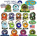 Crazy Aaron's Thinking Putty Mini Tins Complete Gift Set, 16 Pack