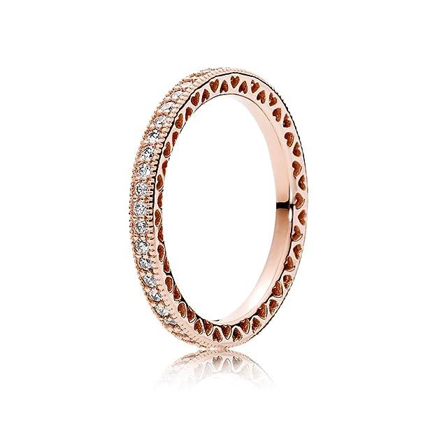 PANDORA Hearts of PANDORA Ring, PANDORA Rose & Clear CZ 180963CZ-54 EU 7 US