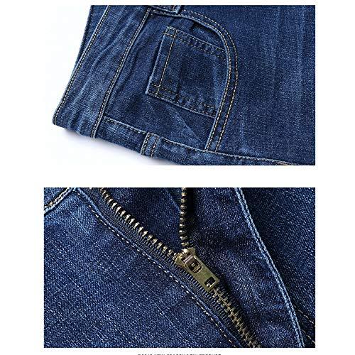 Force 39 Pantalons Décontractés Classiques taille Wanlianer 1 3 Eu En Élastique Jeans Denim Hommes Pour PB84qg